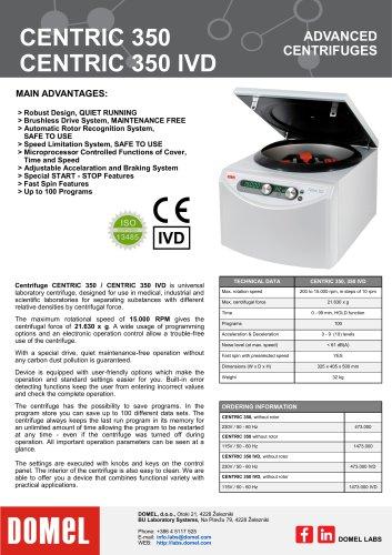 Centric 350, 350 IVD