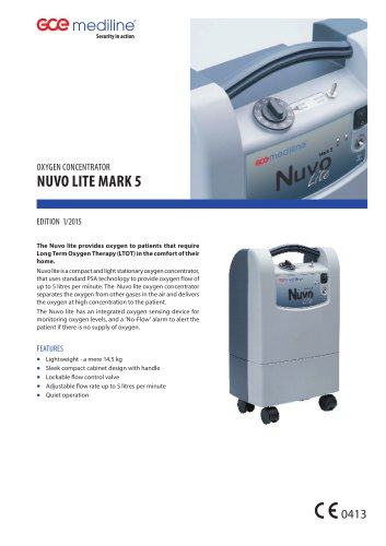 NUVO LITE MARK 5 OXYGEN CONCENTRATOR