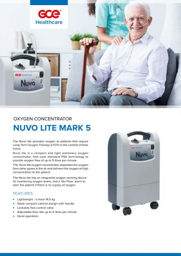OXYGEN CONCENTRATOR  NUVO LITE MARK 5
