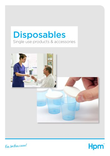 Disposables product brochure