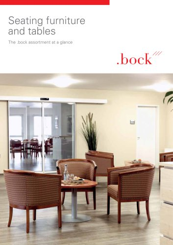 Seating furniture and tables