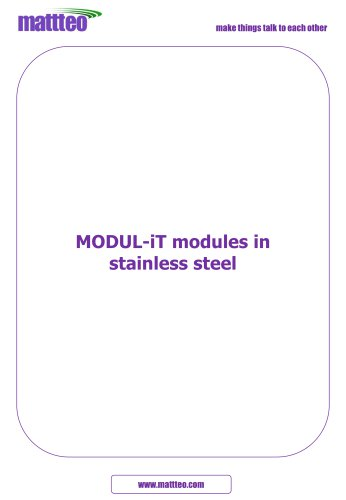 MODUL-iT modules in stainless steel