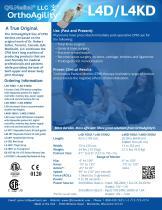 OrthoAgility L4D/L4KD Knee/Hip/Ankle CPM Specification Brochure - 2