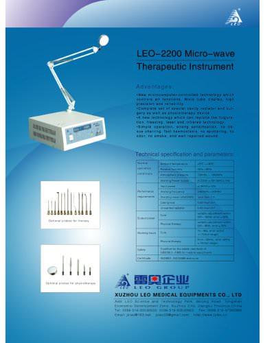 LEO-2200 Micro-wave Therapeutic Instrument