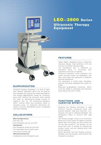 LEO-3800 Ultrasonic Therapy Equipment