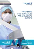 VWR AmiNo  ACid deRiVAtiVeS  ANd BioloGiCAl  BUffeRS