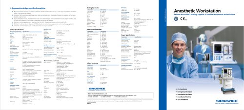 Anesthetic Workstation