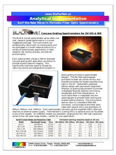 Black Comet Full Specification
