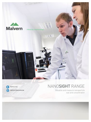 Nanosight Range - Visualize and measure nanoparticle size and concentration