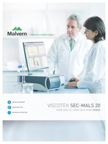 Viscotek SEC-MALS 20 - More angles, more data, more choice