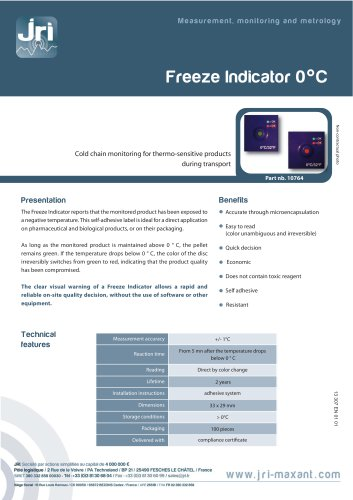 FREEZE INDICATOR 0°C