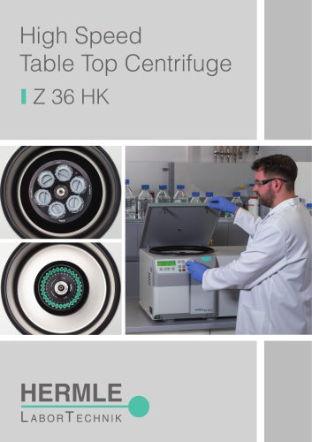 High Speed Table Top Centrifuge Z 36 HK