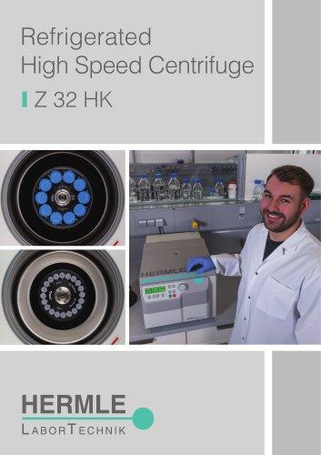 Refrigerated High Speed Centrifuge Z 32 HK