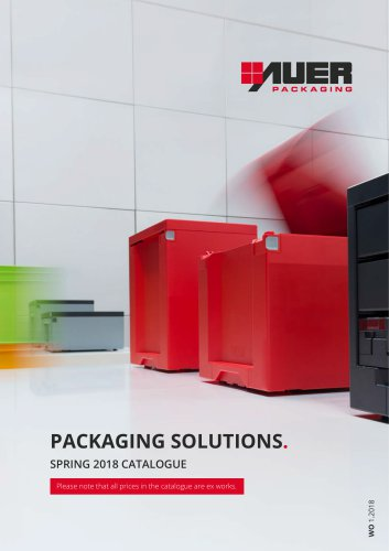 PACKAGING SOLUTIONS. SPRING 2018 CATALOGUE