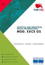 Hospital waste incinerators mod. EXCE OS