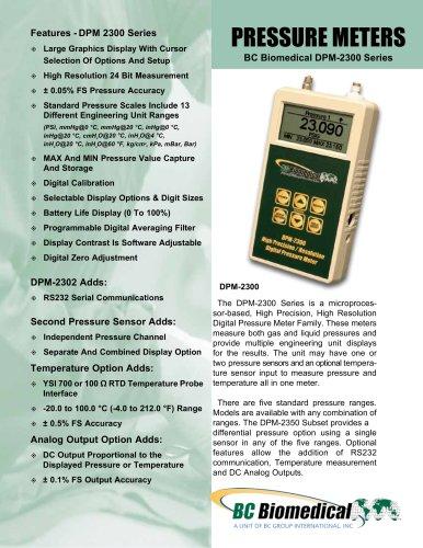PRESSURE METERS BC Biomedical DPM-2300 Series