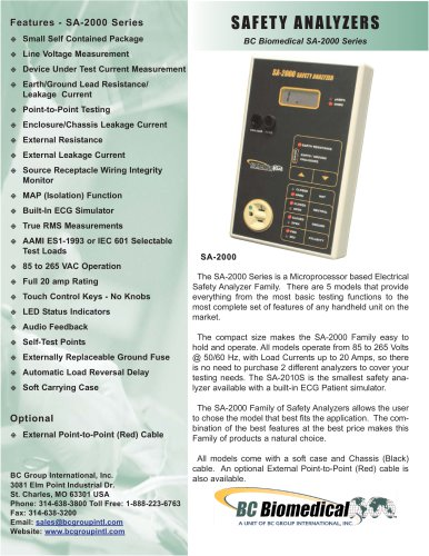 Safety Analyzer - 10 Patient Leads