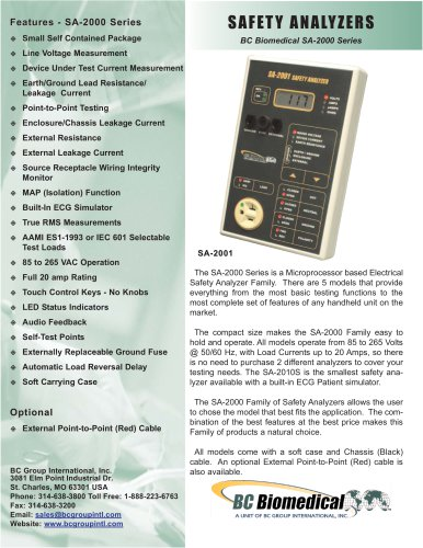 Safety Analyzer - International - Basic Model