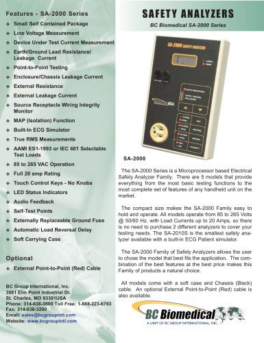 Safety Analyzer - Lite Model