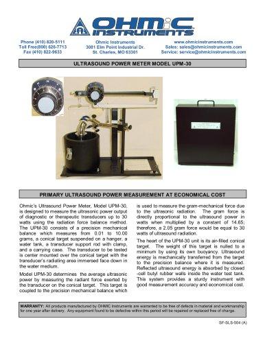 Ultrasound Power Meter - Analog - 150 mW Resolution
