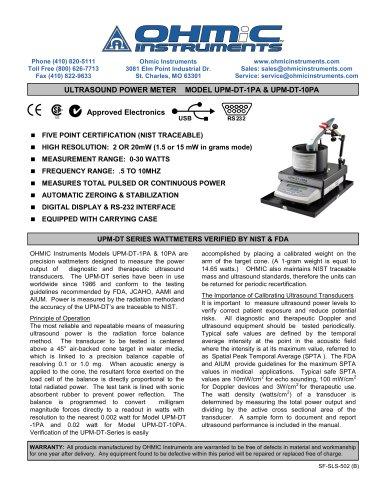 Ultrasound Power Meter - Digital - 20 mW Resolution