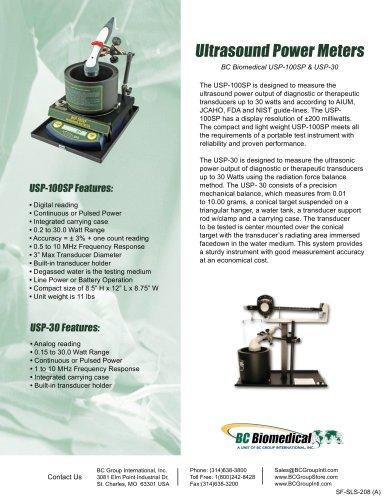 Ultrasound Wattmeter - Analog - 150 mW Resolution