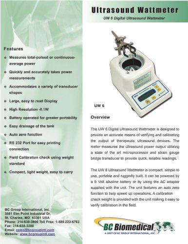 UW6 Ultrasound Wattmeter