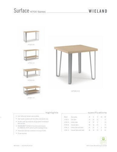 4700 series- table