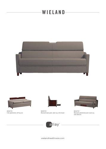 allay®-sleep sofa, soft top arm