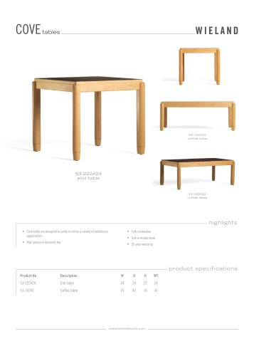 Cove tables