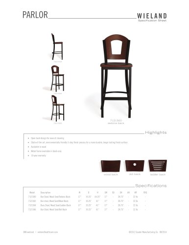 parlor-side chair and barstool