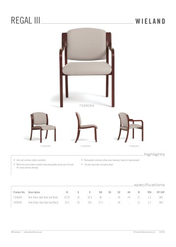 regal III-side and arm chair