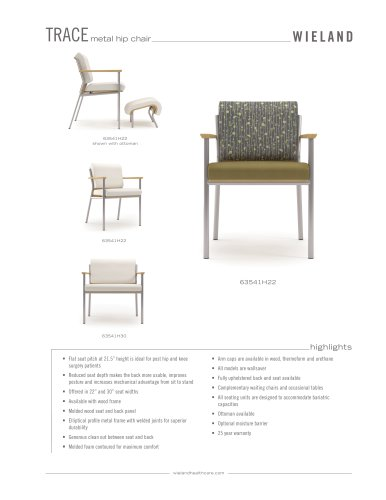 trace-hip chair with metal frame