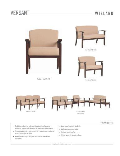 versant chair, wood arm