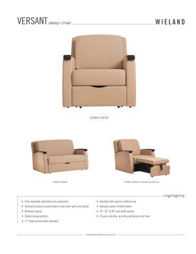 Versant sleep chair