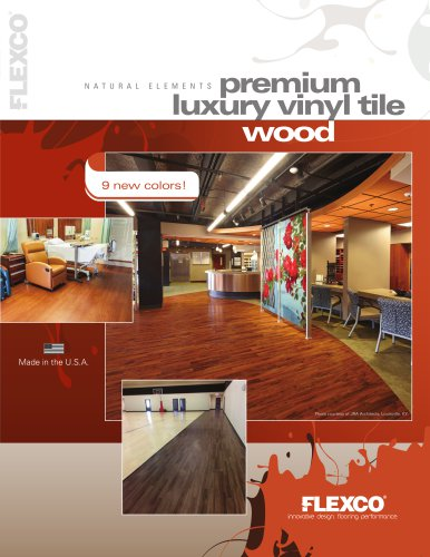 premium luxury vinyl tile - wood