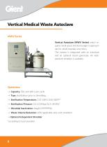 Medical waste vertical autoclave clinics waste disposal GIENT MWV Series