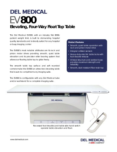 DEL MEDICAL EV800