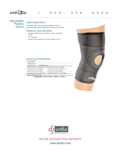 Adjustable Patella Donut