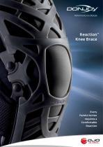 DonJoy Reaction Knee Data Sheet - 1