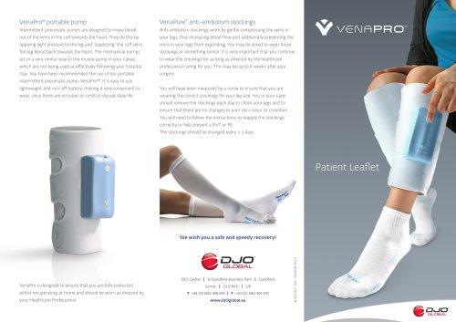 Venapro Patient Leaflet Aircast Pdf Catalogs Technical