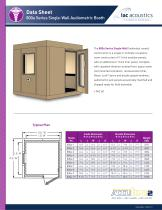 Data Sheet 800a Series Single-Wall Audiometric Booth - 1