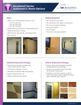 Data Sheet 800a Series Single-Wall Audiometric Booth - 3