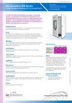 IAC Acoustics 350 Series Single Occupancy Audiometric Screening Booth - 1