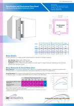 Specification and Dimensional Data Sheet 120a Series Double Walled Audiometric Booth - 1