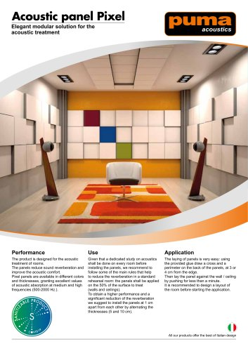 Acoustic Panel F Series Puma Soundproofing Pdf Catalogs Technical Documentation