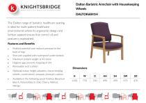 Dalton Bariatric Armchair with Housekeeping Wheels DALTOK6041H