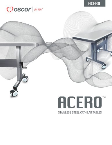 ACERO STAINLESS STEEL CATH LAB TABLES