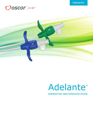 Adelante ADVANCED PEEL AWAY INTRODUCER SYSTEM