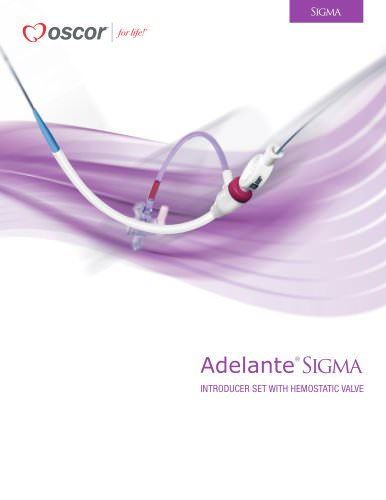 Adelante SlGMA INTRODUCER SET WITH HEMOSTATIC VALVE